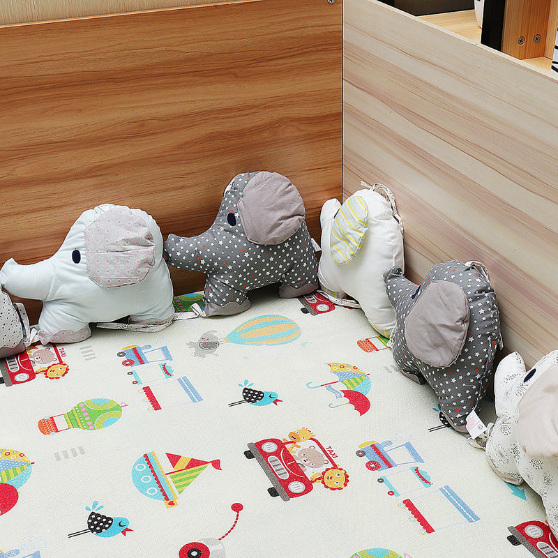6PCS Animal Soft Cotton Baby Infant Pillow Pad Crib Protector Bedding Cot Bumper