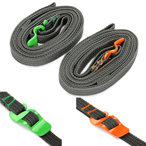 IPRee Outdoor Camp Binding Rope Tie-Up Ribbon Adjustable Puller Strap With Buckle Hook For Travel Luggage
