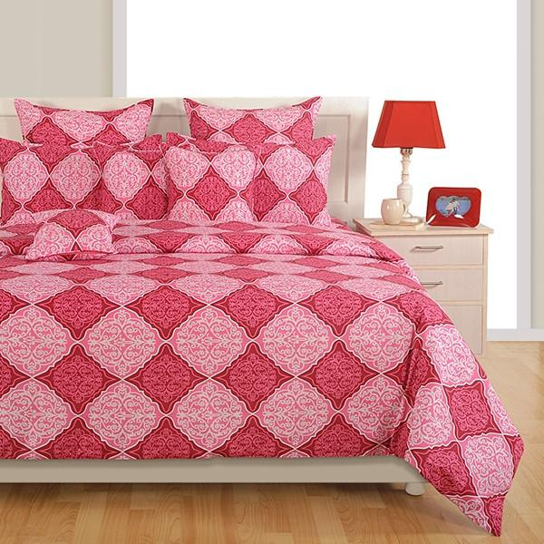 Canopus Pink Diamond Bed Linen Set - Flickdeal.co.nz