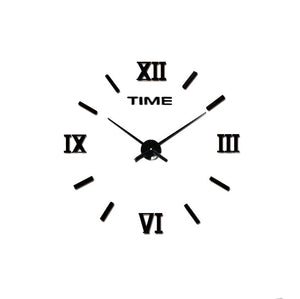 Digital Modern 3D Frameless Large Wall Clock DIY Clock Home Decorations 3 Color Options