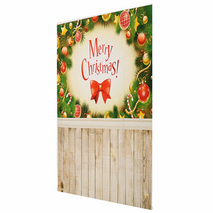 3x5FT Vinyl Merry Christmas Decor Wood Floor Photography Backdrop Background Studio Prop