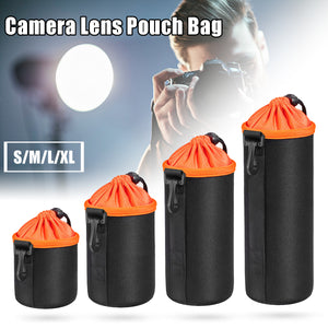 Universal Protective Neoprene Drawstring Pouch Bag Case Cover for DSLR Camera Lens 4 Size
