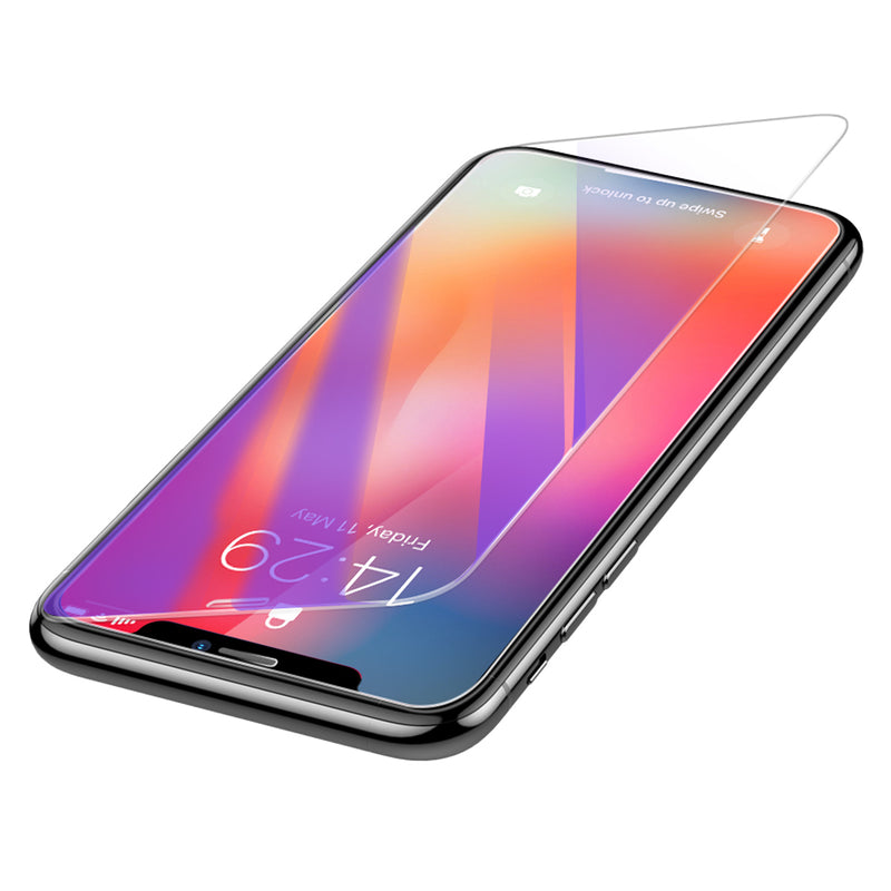 "Baseus 0.3mm Clear/Anti Blue Light Ray Full Tempered Glass Screen Protector For iPhone XS Max 6.5"" 2018"