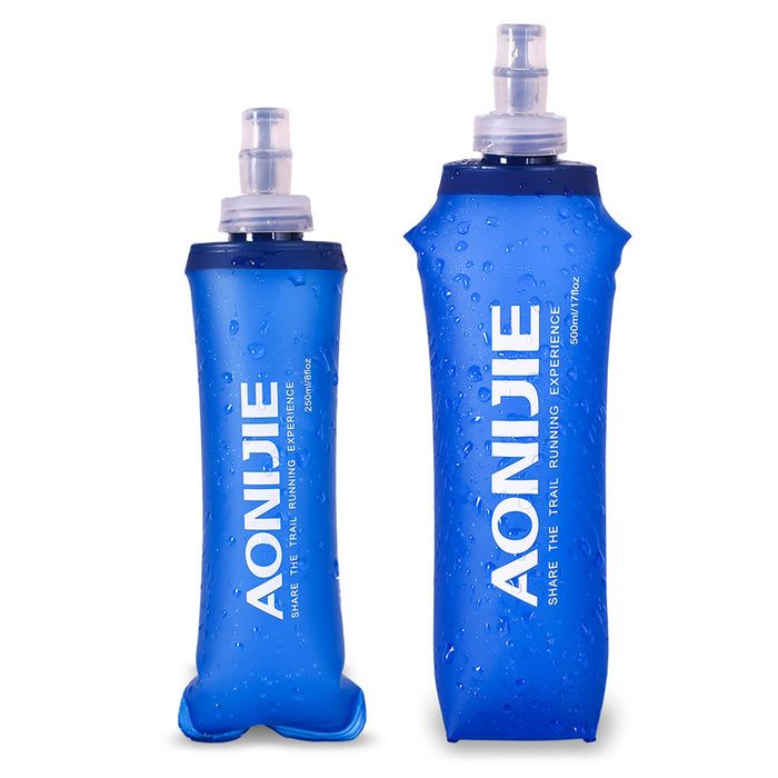 AONIJIE 250ml 500ml Foldable TPU Water Bottle Soft Drinking Kettle Outdoor Sports Running