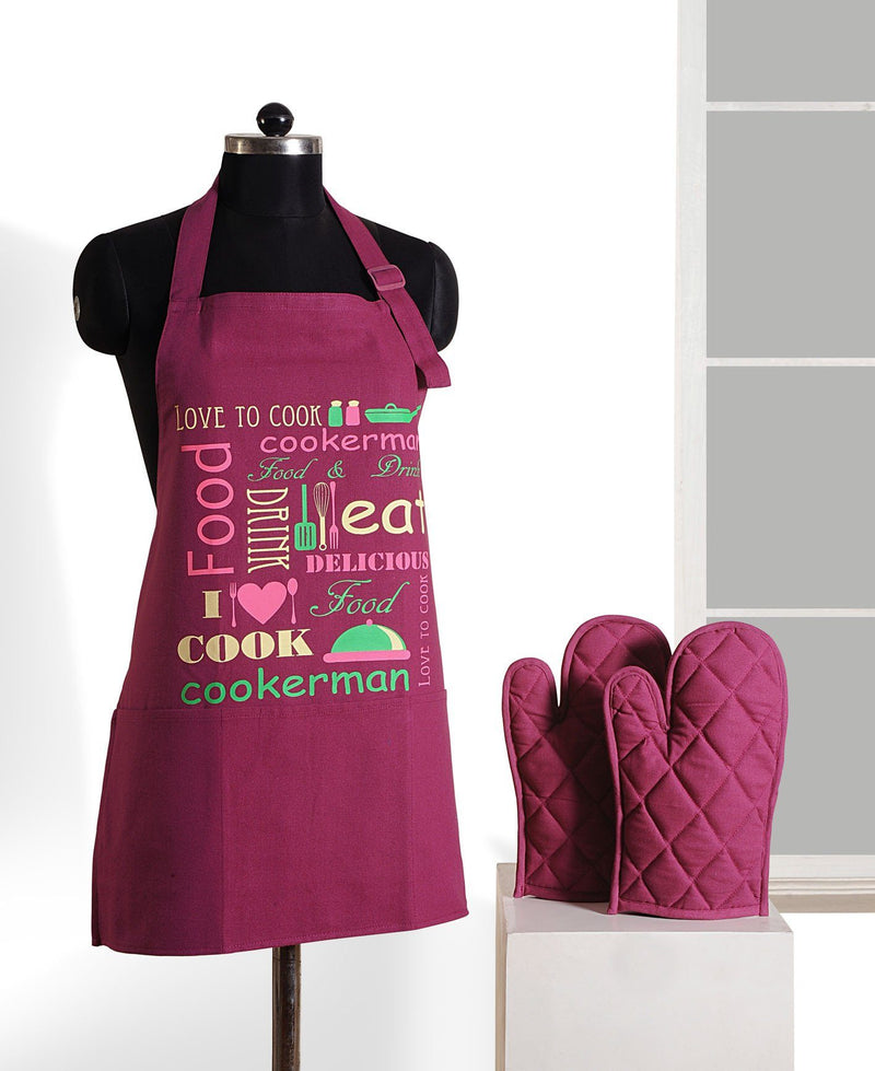 COOK GRAFFITI APRON AND GLOVES - Flickdeal.co.nz