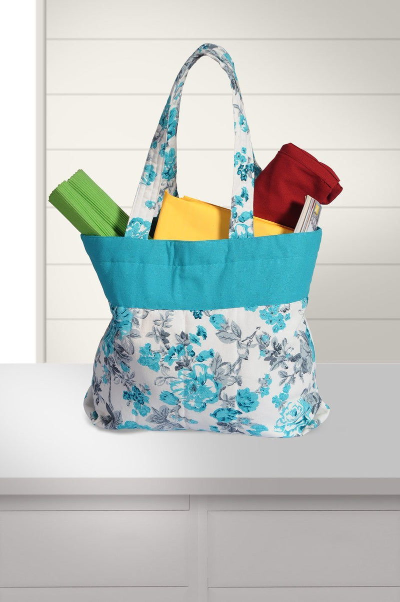 MOSAIC BLUE TOTE BAG - FlickDeal