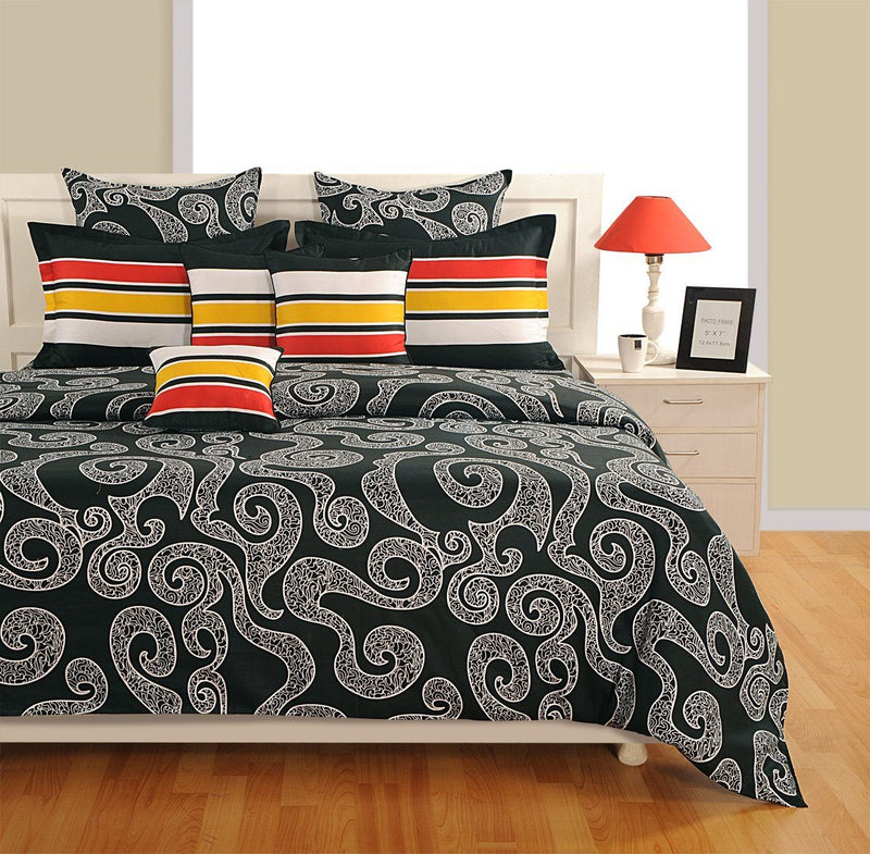 Canopus Designer Black and White Duvet Cover Set - Flickdeal.co.nz