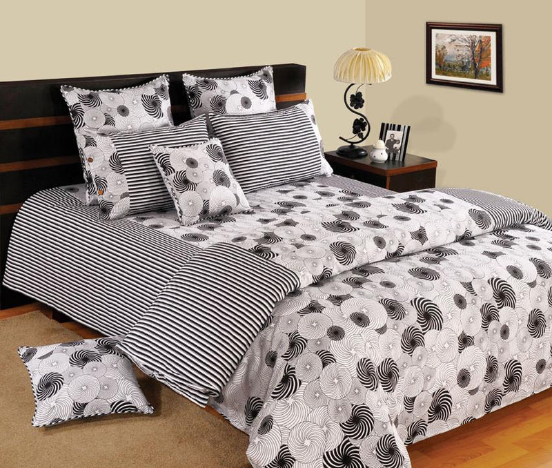 Canopus Black and White Designer Duvet Cover Set - Flickdeal.co.nz
