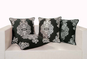 Black and Silver Cushion Cover - Flickdeal.co.nz