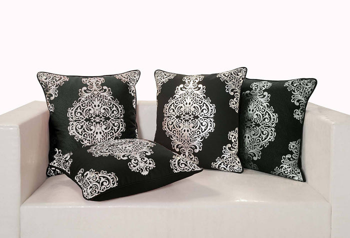 Black and Silver Cushion Cover