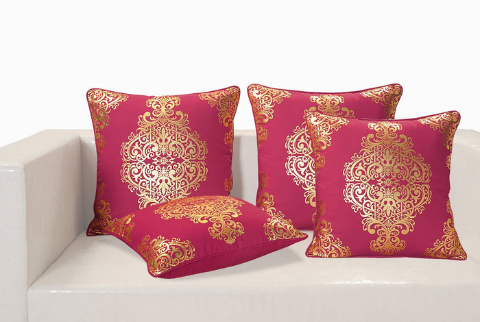 GOLD BERRY FOIL CUSHION COVER