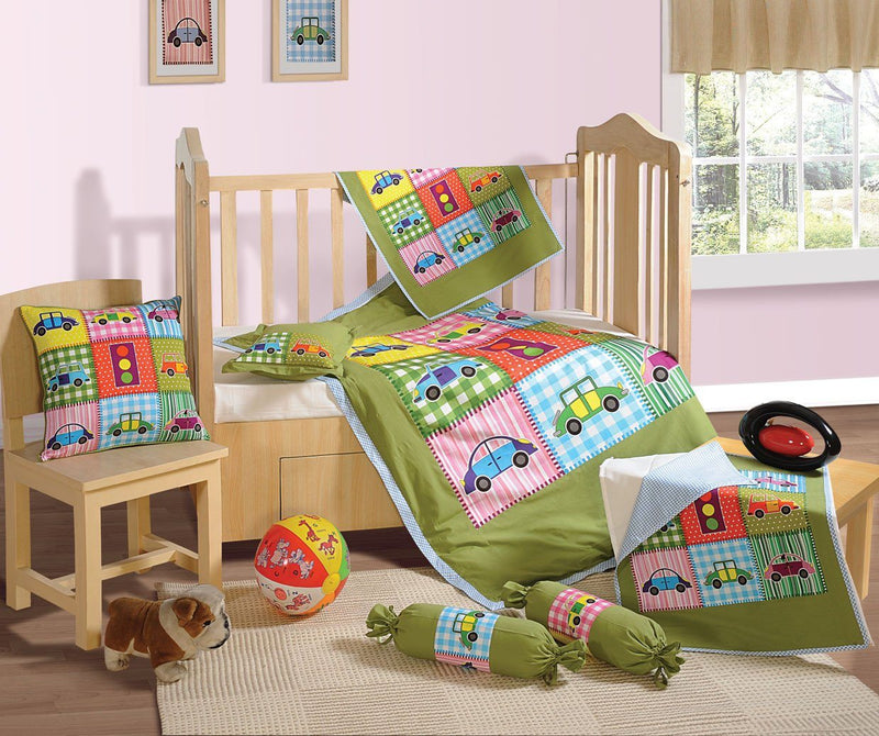 BABY COT DUVET COVER SET / CRIB SET- CARS - Flickdeal.co.nz