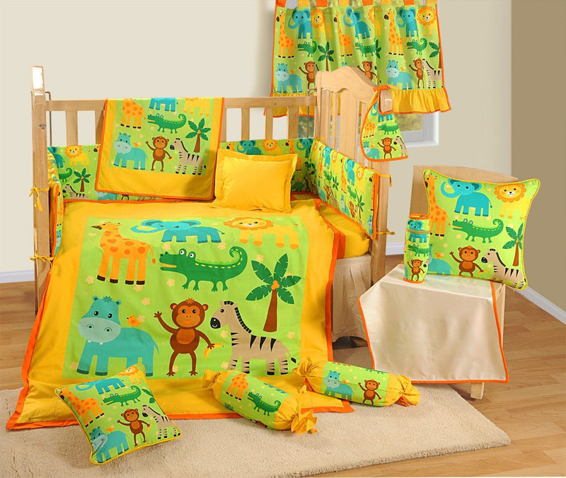 BABY COT DUVET COVER SET - ANIMAL FRIENDS - Flickdeal.co.nz