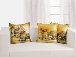 CASTLE CUSHION COVER - Flickdeal.co.nz