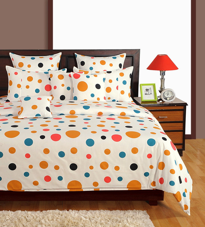 Canopus Circles Cotton Duvet Cover Set - Flickdeal.co.nz