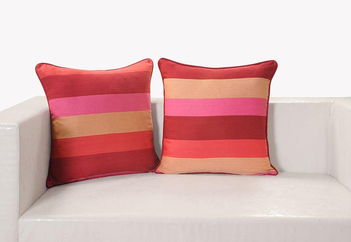 PINK STRIPES CUSHION COVER