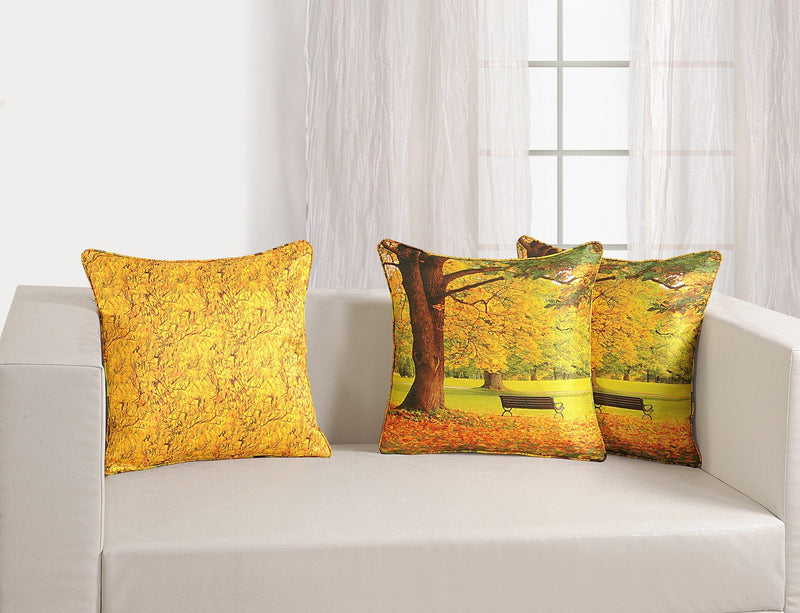 YELLOW CUSHION COVER CANOPUS - Flickdeal.co.nz