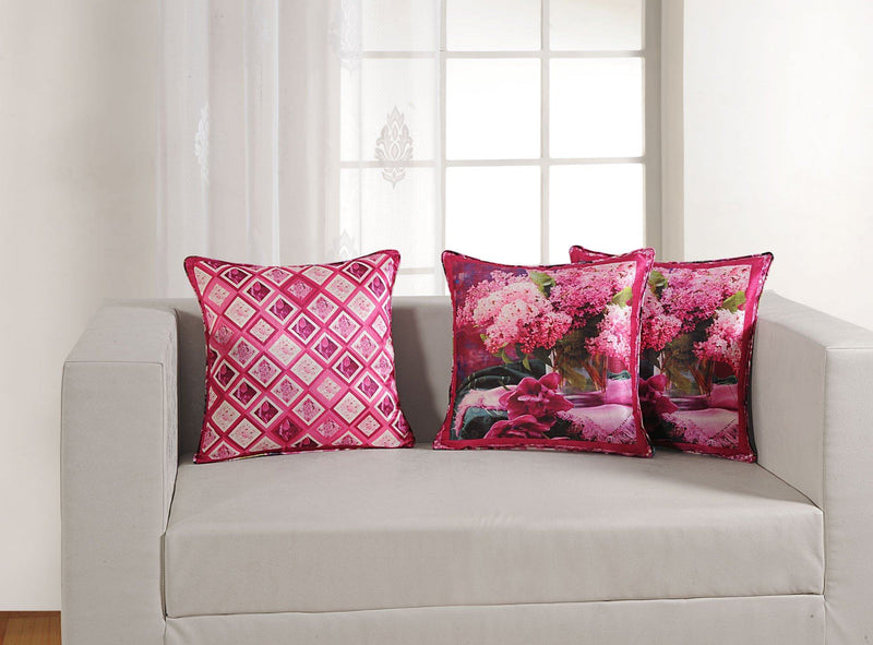PINK FLORAL CUSHION COVER - Flickdeal.co.nz