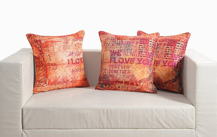WE LOVE YOU CUSHION COVER