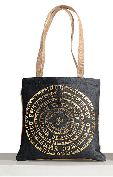 DENIM MINI JUTE BAG