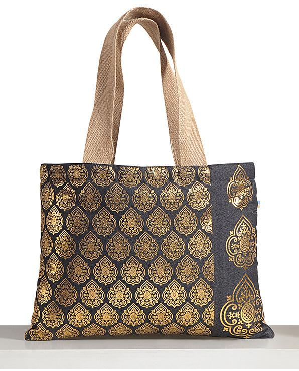 GOLDEN DENIM TOTE BAGS