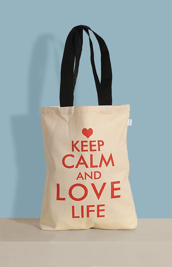 KEEP CALM CANVAS TOTE BAGS