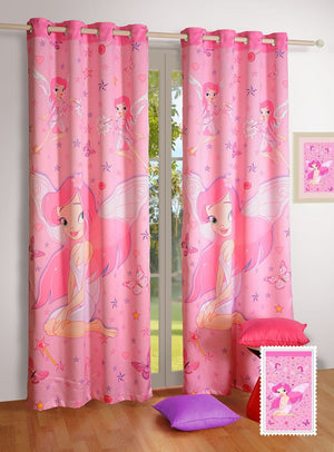 Canopus Kids Curtains - Pink Fairy - Flickdeal.co.nz