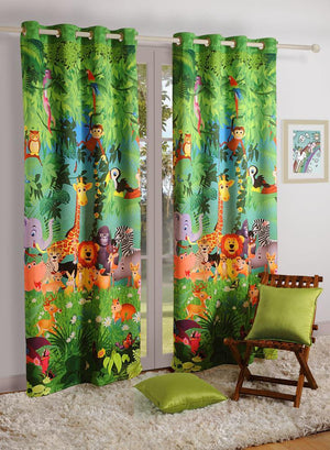 Jungle friends Kids Curtain - Flickdeal.co.nz