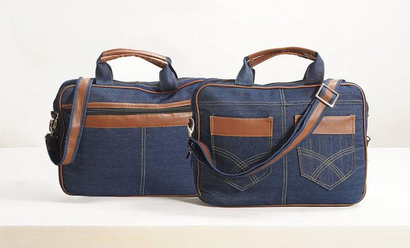 Denim Laptop bag - Flickdeal.co.nz