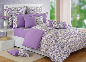 Purple Floral Duvet Cover Set | Canopus - Flickdeal.co.nz