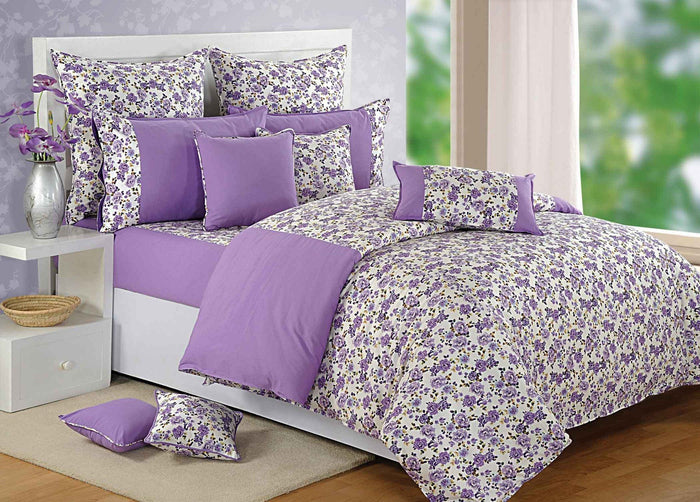 Purple Floral Duvet Cover Set | Canopus