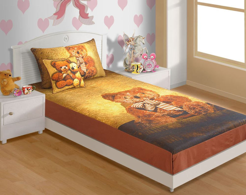 CANOPUS KIDS BED SHEET -TEDDY - Flickdeal.co.nz