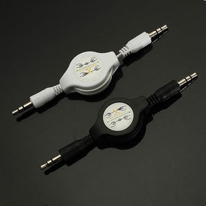 3.5mm Male to Male AUX Retractable Car Stereo MP3 Audio Cables Adapter