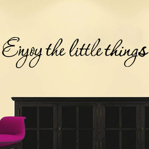 DIY Enjoy The Little Thing Removable Art Vinyl Quote Wall Sticker Mural