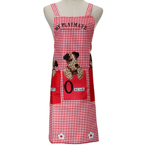Cartoon Dog Apron Waterproof Kitchen Apron Woman Man Apron Kitchen Apron