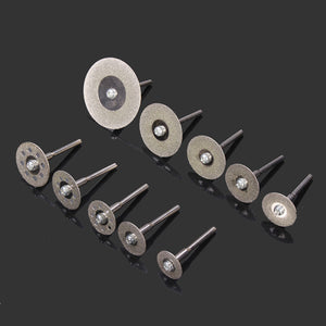 Drillpro 10pcs Diamond Cutting Discs Cut Off Wheel Set For Dremel Rotary Tool