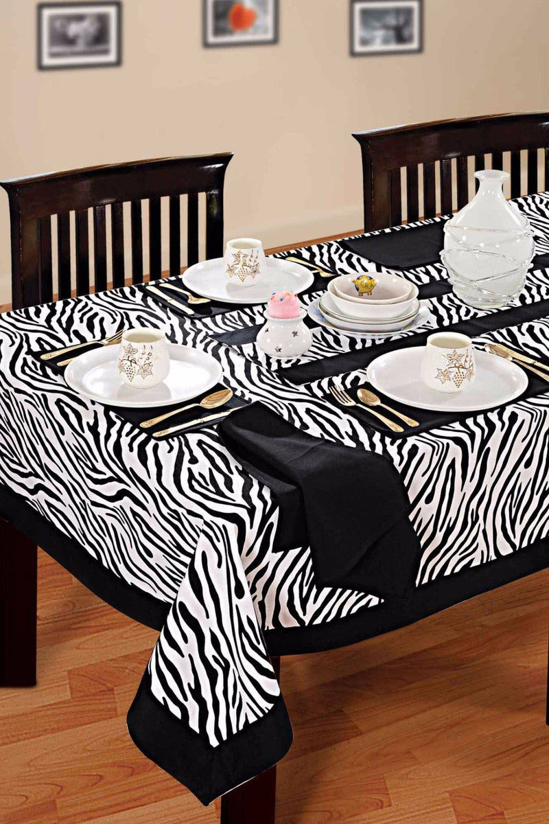 Black and White Zebra Printed - Table Cloth - Flickdeal.co.nz