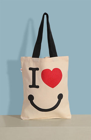 LOVE CANVAS TOTE BAG - Flickdeal.co.nz