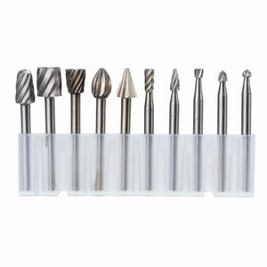 Drillpro RB2 10pcs HSS Router Bit Burr For Dremel and Rotary Engraving Wood Working Tool