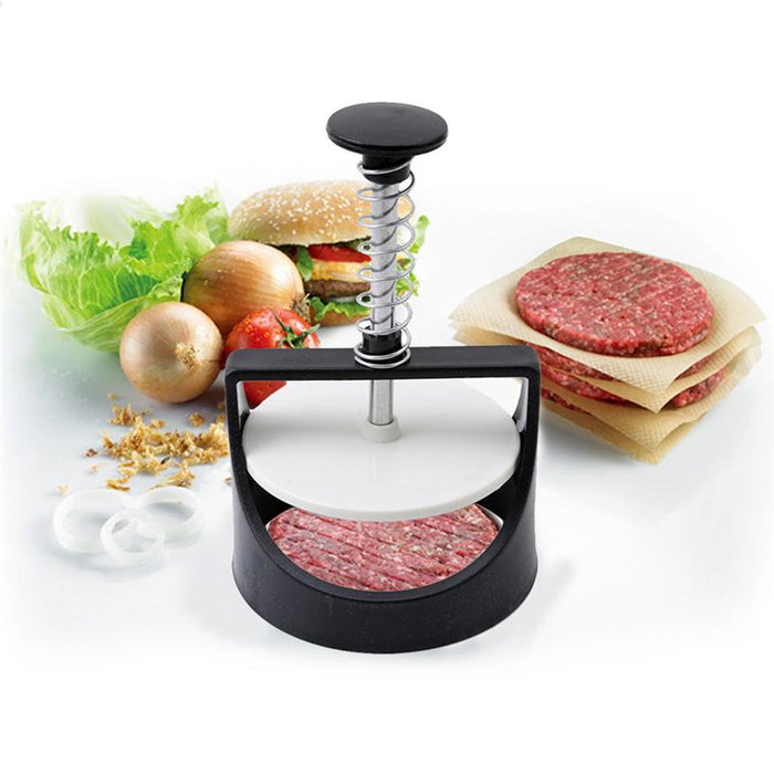 Plastic Burger Press Slider Patty Mold Stainless Steel Meat Press Maker Cooking Tool Food Grade  Kitchen  Meat Tools Hamburger Pressed Meat Mold