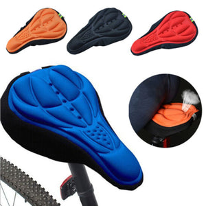 Outdoor Cycling 3D Bicycle Silicone Gel Pad Seat Saddle Cover Soft Cushion