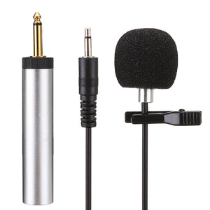 ERzhen S318 Lavalier Clip-on Cardioid Capacitance Wired Microphone for Amplifier Mixer