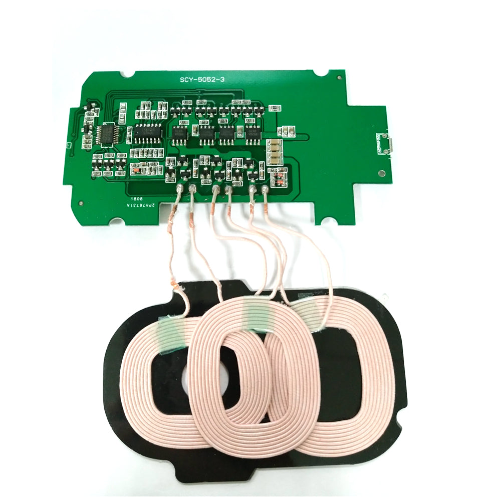 Bakeey 3 Coils DIY Material Qi Wireless Charger PCBA Launch Board 5V 2A for  Smartphones