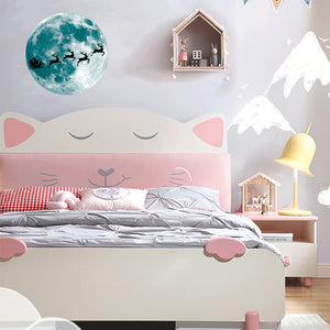 Luminous Moon Wall Stickers Kids Fluorescent Gifts for Living Room Bedroom Decor Sticker