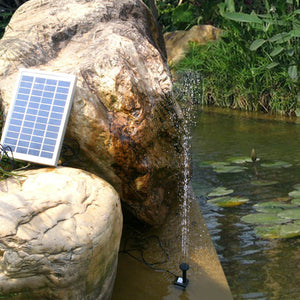 12V 5W Solar Power Mini Fountain Pump Garden Landscape DC Brushless Water Pump