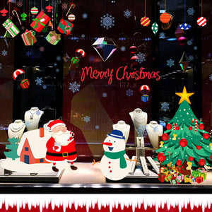 Removable Christmas Santa Snowman Wall Stickers Window Decal Home Decor