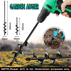 5x22/5x45cm Garden Auger Small Earth Planter Drill Bit Post Hole Digger Earth Planting Auger Drill Bit for Electric Drill