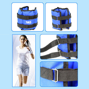 2PCS 1-4KG Weight-bearing Leggings Sandbag Home Gym Muscle Training Rehabilitation Training Sand Bag