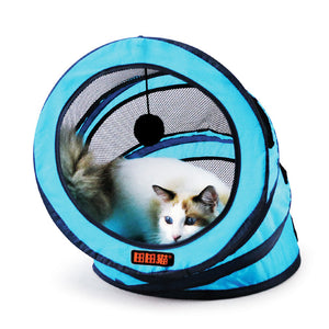 Foldable storage spiral Pet Cat Tunnel Toys Breathable Pet Cats Training Toy Funny Cat Tunnel House Toys