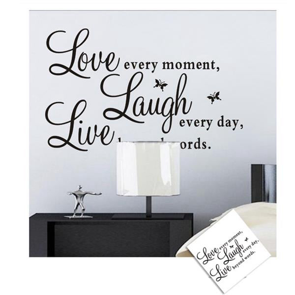 Live Love Butterfly Wall Sticker Living Room Home Decoration Creative Decal DIY Mural Wall Art